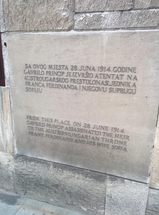 ponte latina assassinato atentado sarajevo primeira guerra