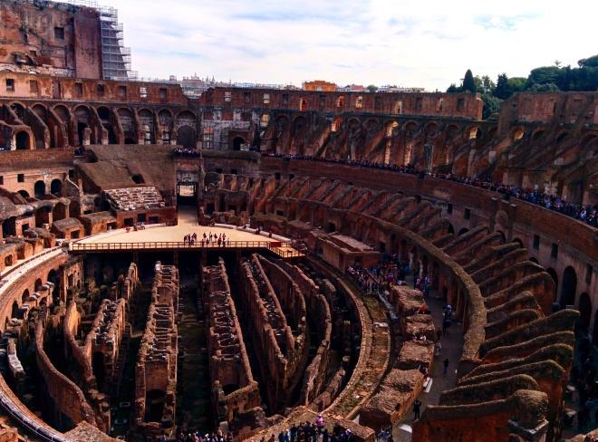 tour coliseu subterrâneo arena visita roma