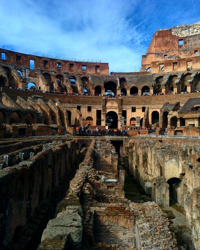 arena coliseu subterrâneo visita tour