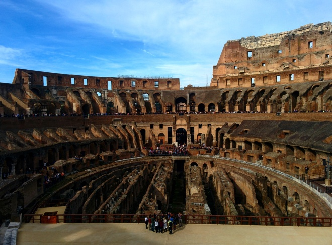 arena, coliseu, tour, visita, gladiadores subterrâneo