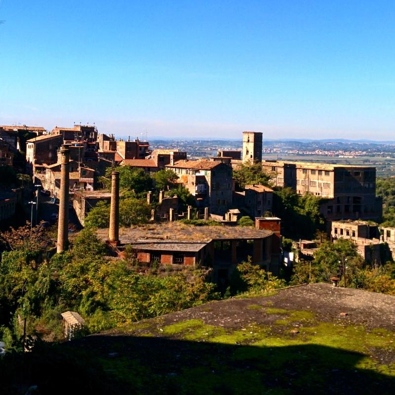 Vista de Tivoli no caminho para a Villa Gregoriana