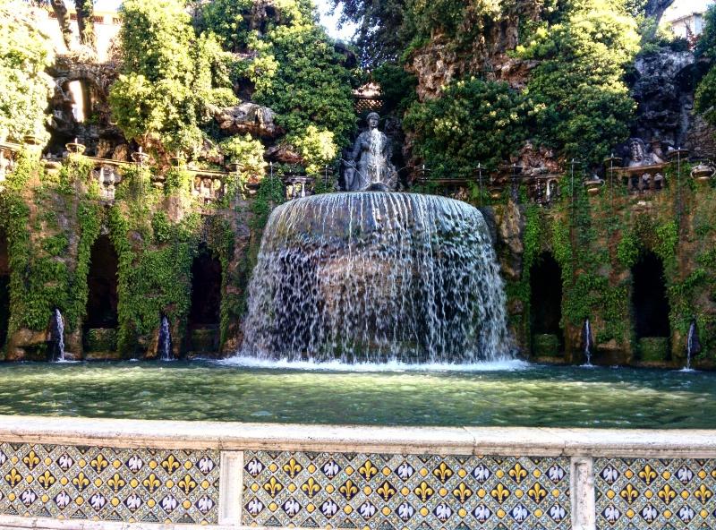 Villa d'Este Tivoli fontes