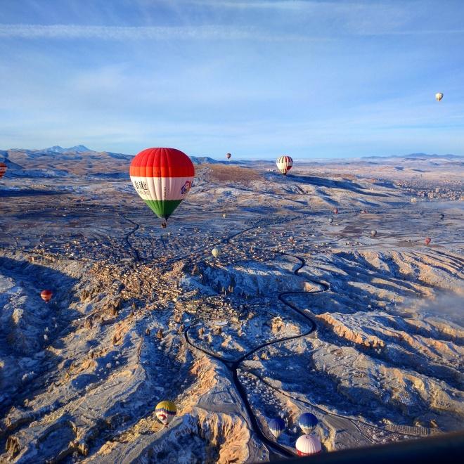 balão capadócia vista