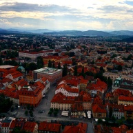 Vista da cidade do castelo