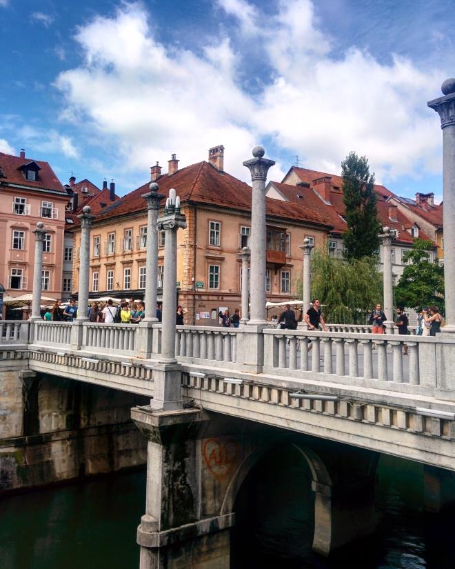 Ponte dos sapateiros Plecnik art nouveau Ljubljana