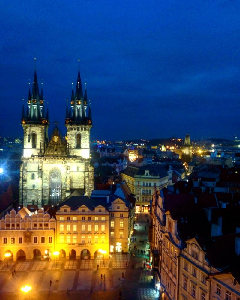 Vista da torre da cidade velha Praga 2