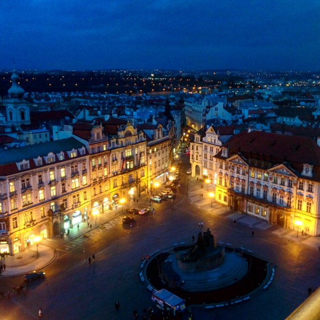 Vista da torre da cidade velha Praga 3
