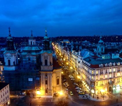 Vista da torre da cidade velha Praga 5