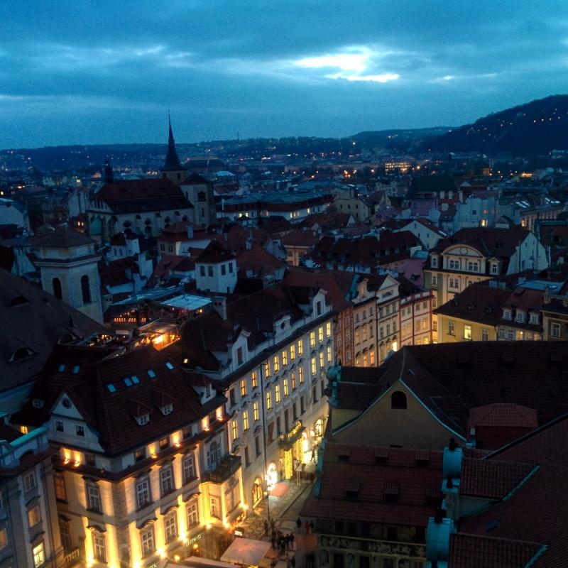 Vista da torre da cidade velha Praga