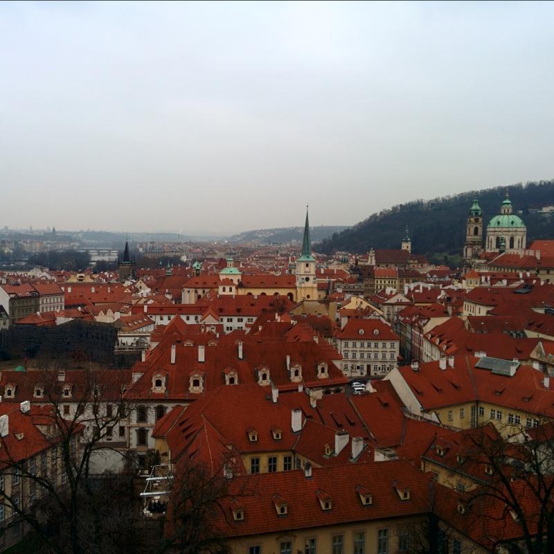 Vista do Castelo de Praga