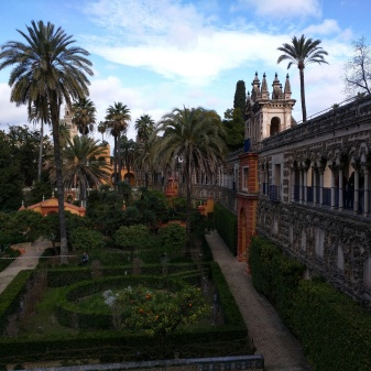 Alcazar Sevilha jardim