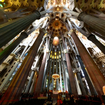 Interior Sagrada Familia Barcelona