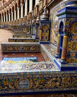 Plaza de Espana Sevilha azulejos