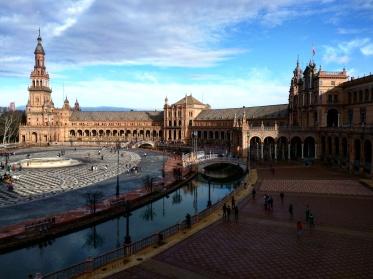 Plaza de Espana Sevilha do alto