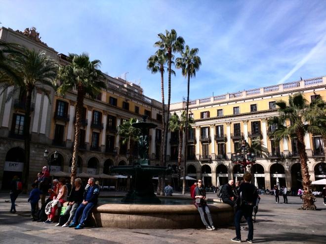 Plaza del Rey bairro gótico Barcelona