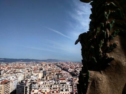 Torre vista Sagrada Familia Barcelona