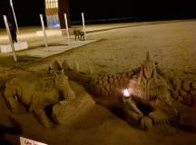Praia Barceloneta noite 2