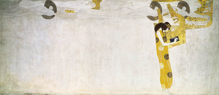 Gustav Klimt, Beethovenfries (Detail): Poesie