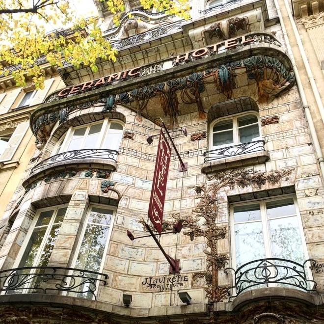 Ceramic Hotel Art Nouveau Paris
