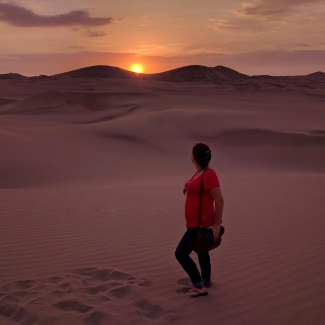 Huacachina oásis Peru por do sol no deserto 2