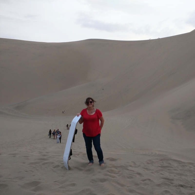 Huacachina oásis Peru sandboarding