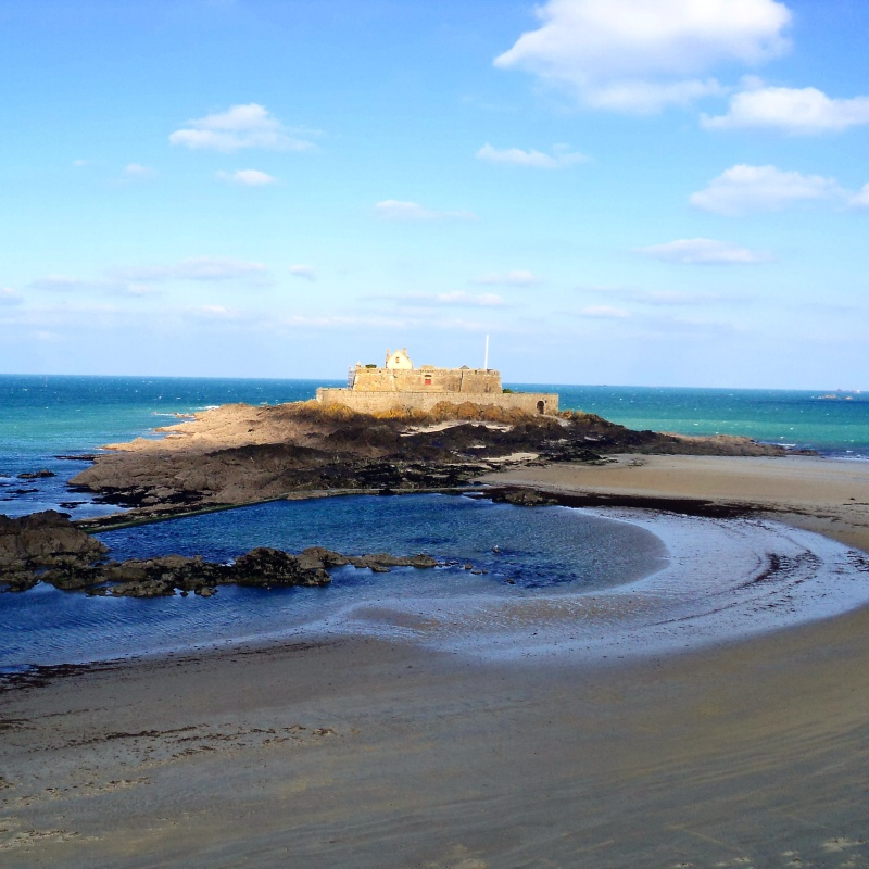 Ile du grand Be no meio do dia St. Malo