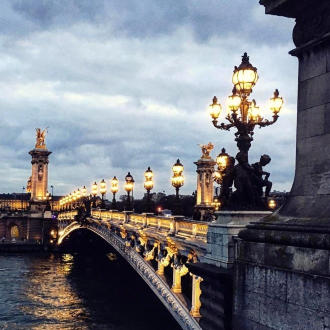 Ponte Alexandre III Art Nouveau Paris
