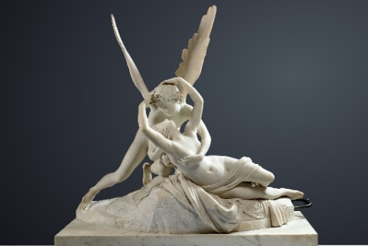 psyche revived by Cupid's kiss Canova