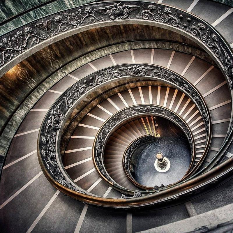 Museus do Vaticano escadas