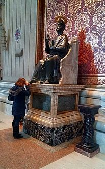 Pilgrim_at_St_Peter_Enthroned