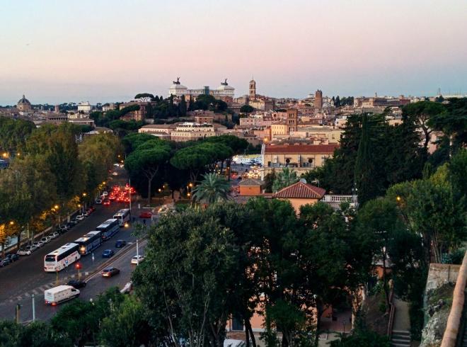 Vista do Jardim das Laranjas, Roma 1