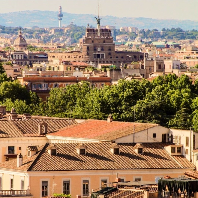 Gianicolo Vista de Roma 2