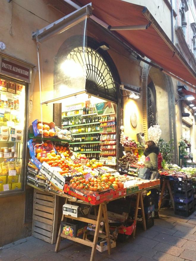 Mercado em Bologna