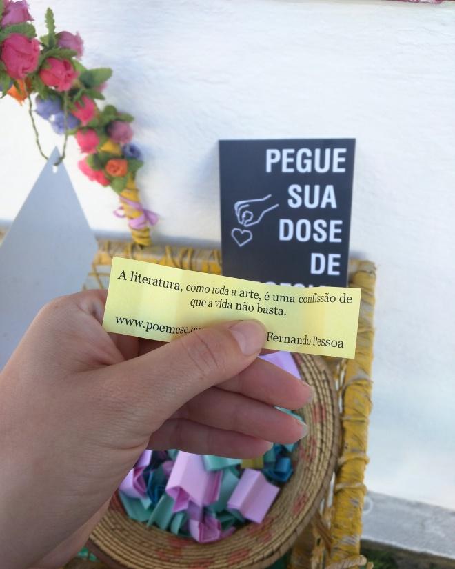 Poesia na rua Paraty