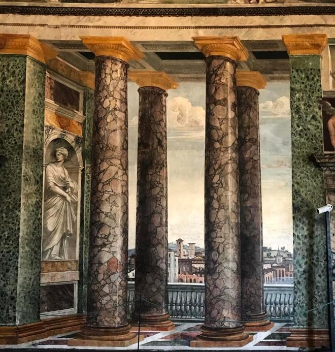Sala das perspectivas na Villa Farnesina