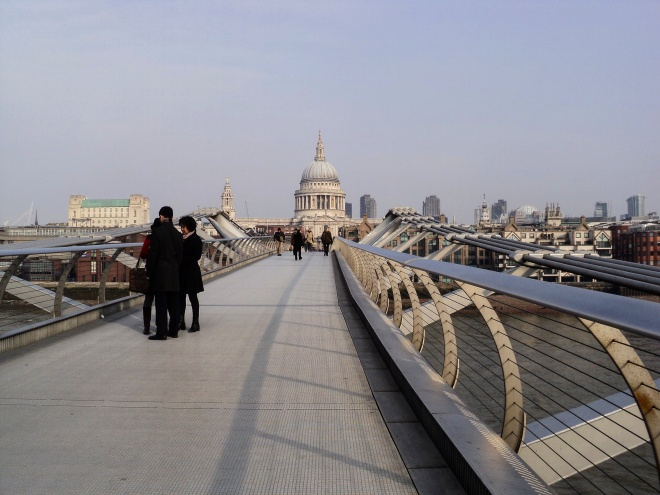 St Paul e Millenium Bridge Londres 2