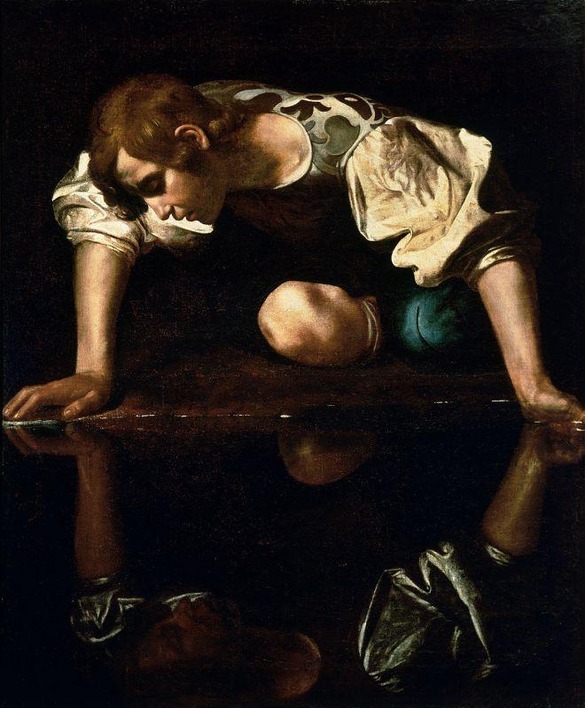 1200px-Narcissus-Caravaggio_(1594-96)_edited