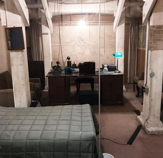 Churchill War Rooms Londres quarto