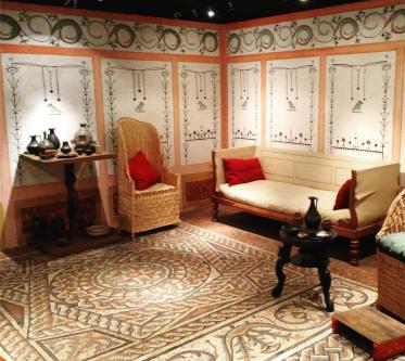 Museum of London quarto romano reconstruído