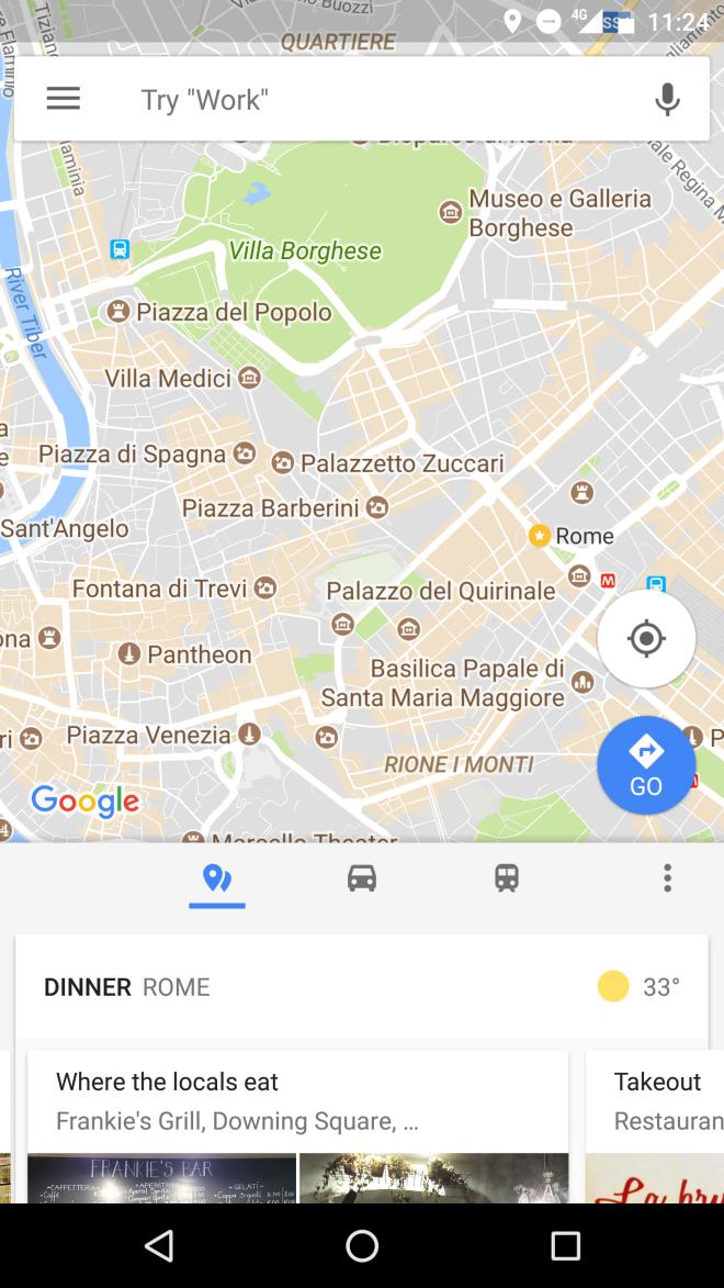 Recomendações do Google Maps