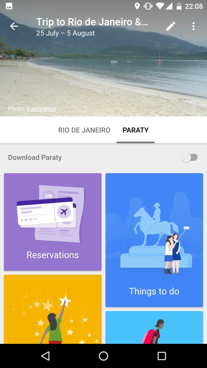 Google trips viajar apps
