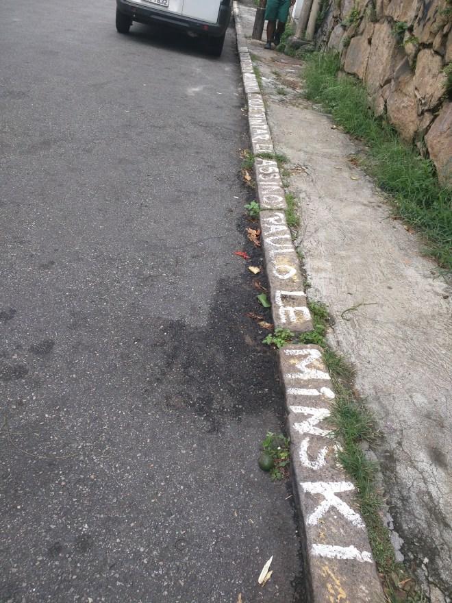 Grafites em Santa Teresa poesia na calçada