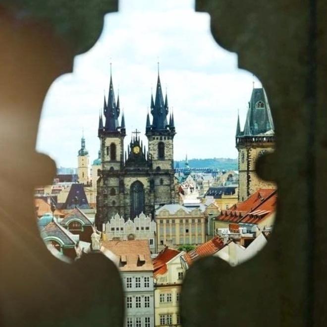 Klementinum vista de Praga