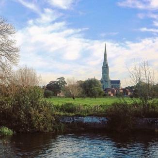 Salisbury cidade Inglaterra Rio Avon