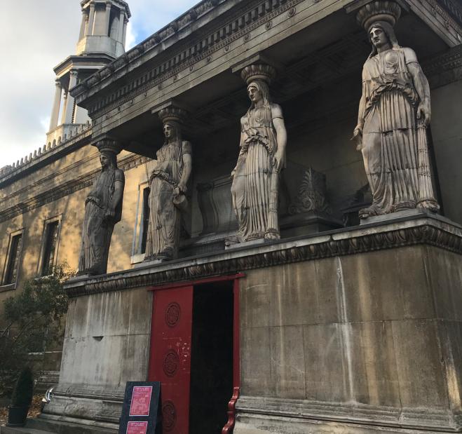 St. Pancreas igreja Londres Bloomsbury cariatides