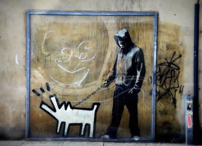 banksy vidro arte de rua londres