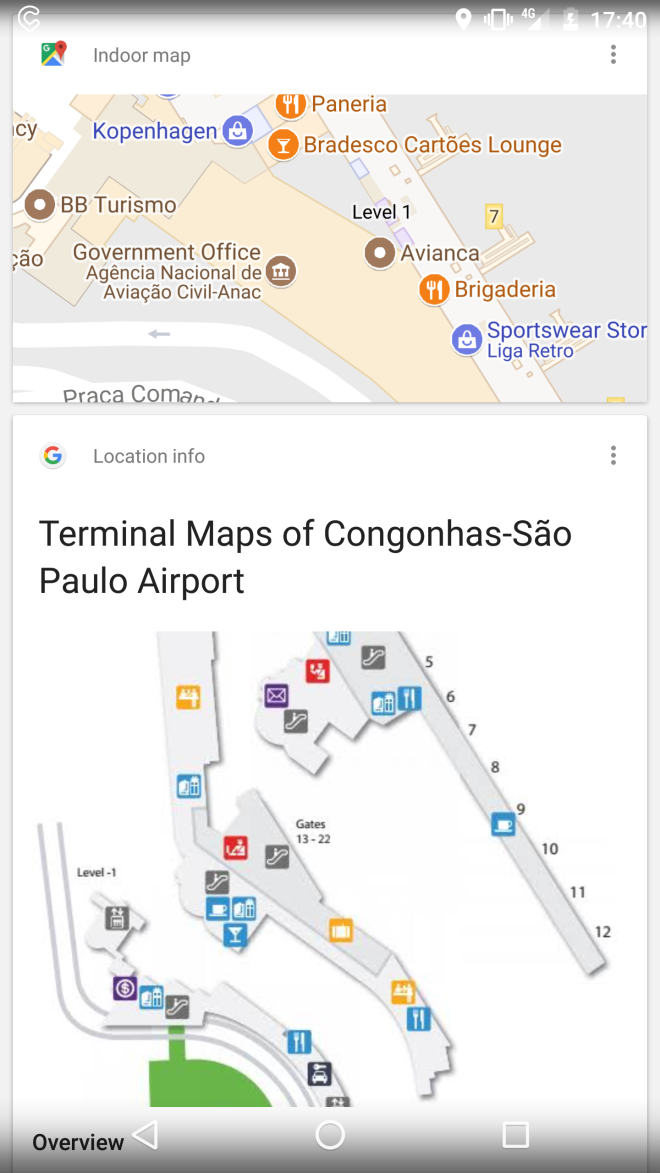 Google now aps viajar