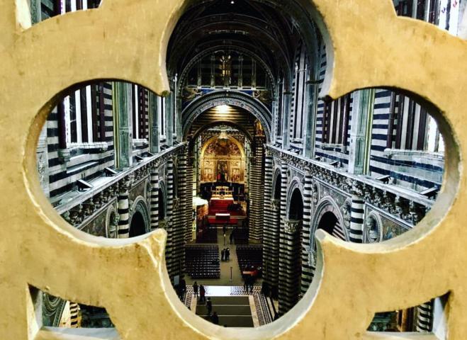 Duomo de Siena vista do andar de cima 1