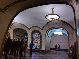 Estação metro moscou novoslobodskaia 2