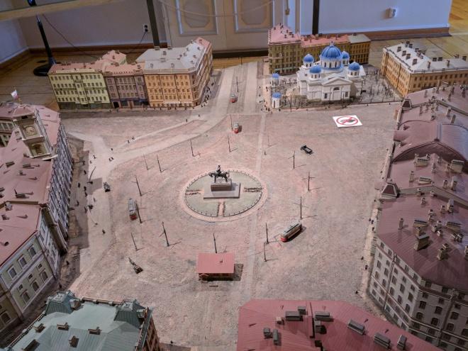 Petersburgo Fortaleza de Pedro e Paulo casa do governador maquetes 2